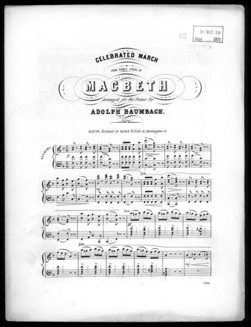 Celebrated march from Verdi's opera Macbeth