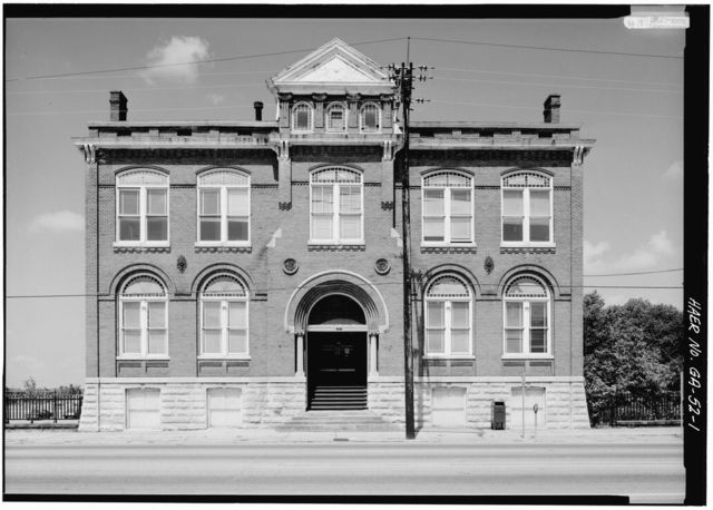 Central of Georgia Railway, Red (Administration) Building, 233 West Broad Street, Savannah, Chatham County, GA