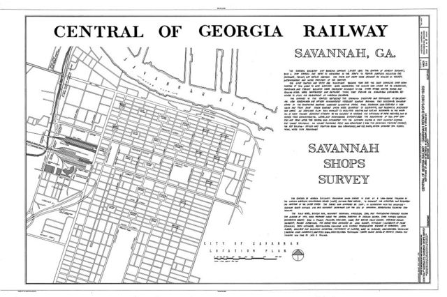 Central of Georgia Railway, Savannah Repair Shops & Terminal Facilities, Bounded by West Broad, Jones, West Boundary & Hull Streets, Savannah, Chatham County, GA