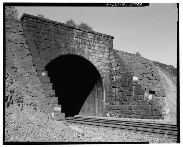 Central Pacific Transcontinental Railroad, Tunnel No. 18, Milepost 120.5, Newcastle, Placer County, CA