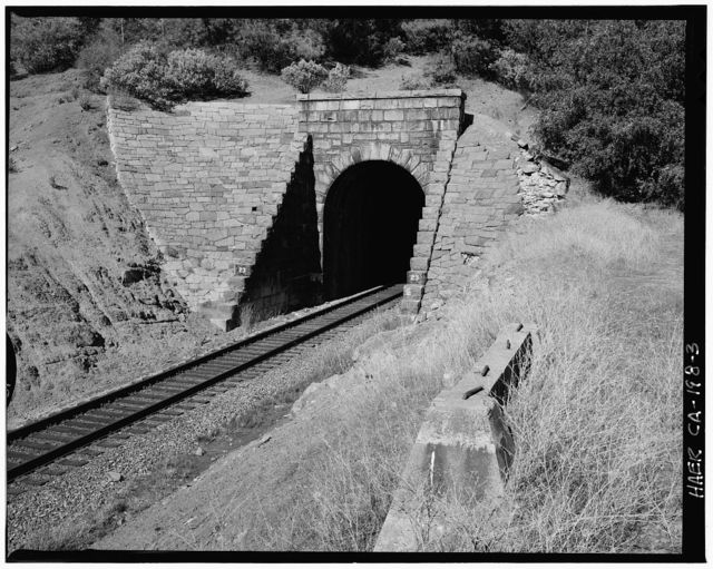 Central Pacific Transcontinental Railroad, Tunnel No. 23, Milepost 132.69, Applegate, Placer County, CA
