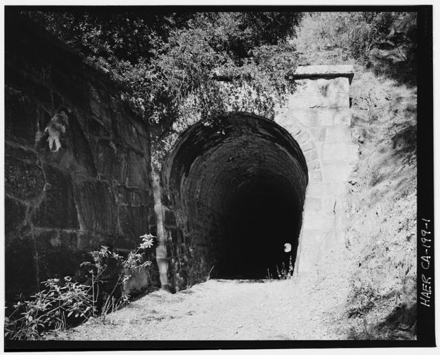 """Central Pacific Transcontinental Railroad, Tunnel """"O"""", Milepost 132.69, Applegate, Placer County, CA"""