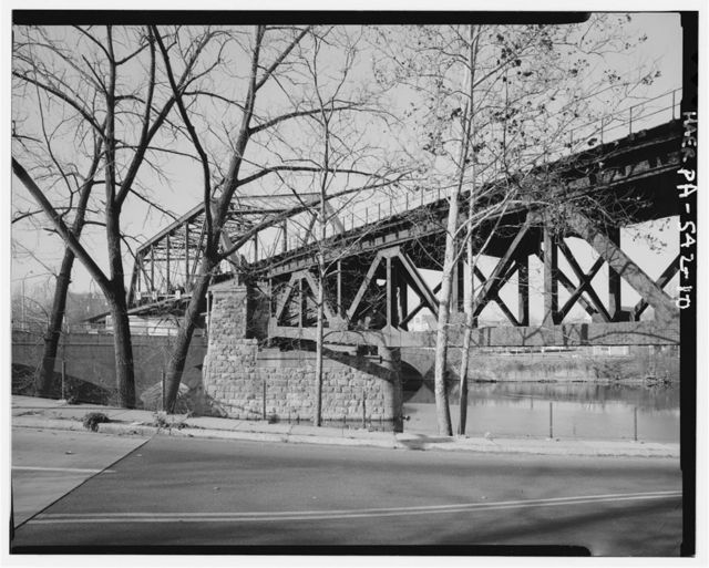 Central Railroad of New Jersey, Lehigh River Bridge at Easton, Spanning Lehigh River at Third Street, Easton, Northampton County, PA
