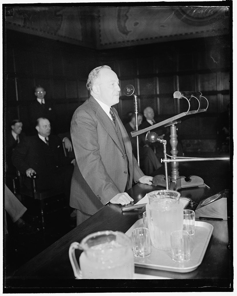 Chairman of small business conference. Washington, D.C., Feb. 2. The naming of Fred Roth, President of the Whitney-Roth Shoe Co., Cleveland, Ohio, by Secretary Roper to be Temporary Chairman of the Small Business Conference which opened today brought charges from the delegates that he (Roth) was handpicked by the Administration to President. Nevertheless, Roth took over the gavel and proceeded to end the confusion which marked the opening session, 2/2/38