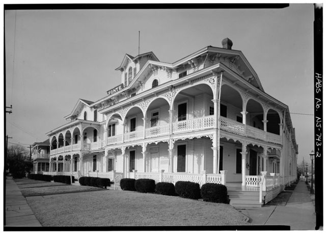 Chalfonte Hotel, Howard Street & Sewell Avenue, Cape May, Cape May County, NJ