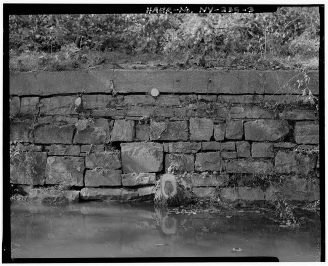 Champlain Canal, Wall, East-northeast of NY State Route 32 Bridge, Waterford, Saratoga County, NY