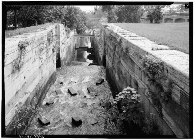 Champlain Canal, Waterford Locks, U.S. Route 4, Waterford, Saratoga County, NY
