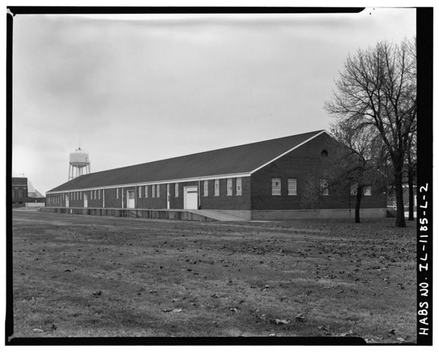 Chanute Air Force Base, Quartermaster Warehouse, Northeast corner of Extender Street & Sopwith Street, Rantoul, Champaign County, IL