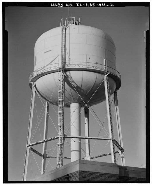 Chanute Air Force Base, Water Tower, Extender Street, Rantoul, Champaign County, IL