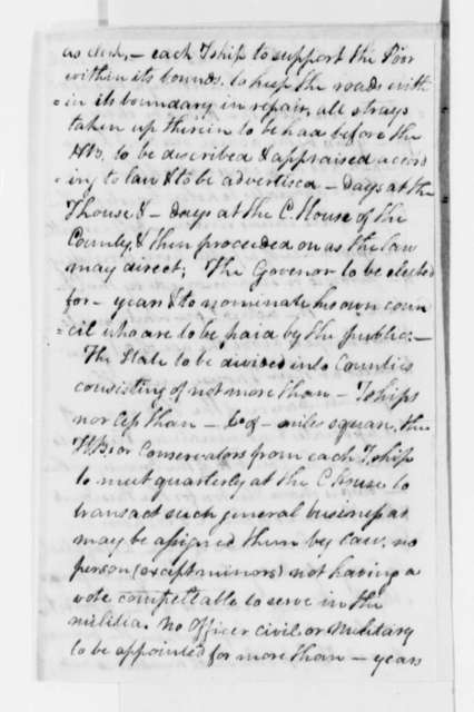 Charles Clay, no date, Draft and Notes on Virginia Constitution