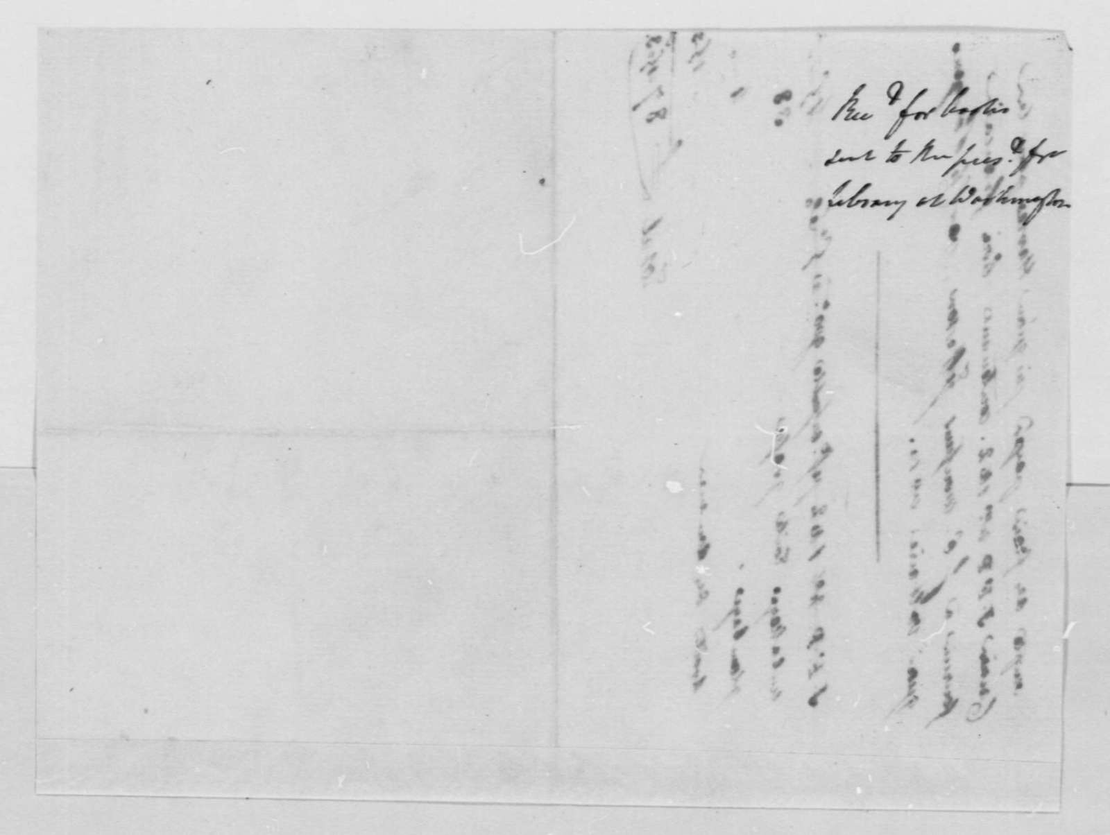 Charles de Pougens to Thomas Jefferson, no date, Receipt, in French