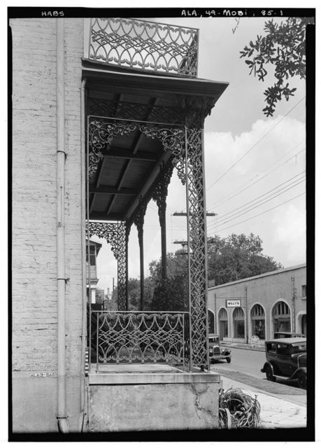 Charles L. Huger House (Ironwork), 154 South Conception Street, Mobile, Mobile County, AL