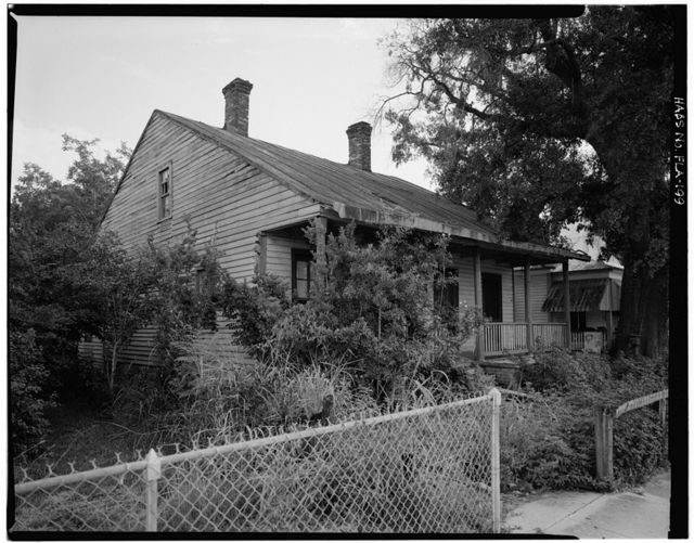 Charles Lavalle House, 203 East Church Street (moved from 111 West Government Street), Pensacola, Escambia County, FL