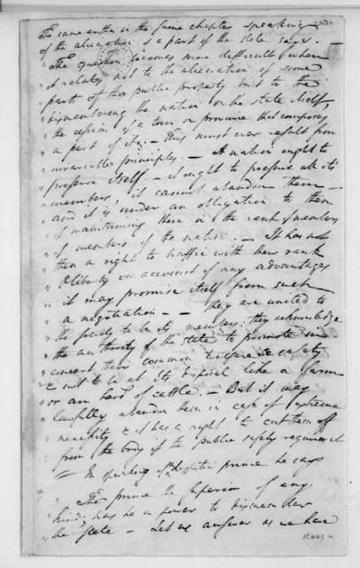Charles Pinckney. Quotations and comments regarding cession of territory.