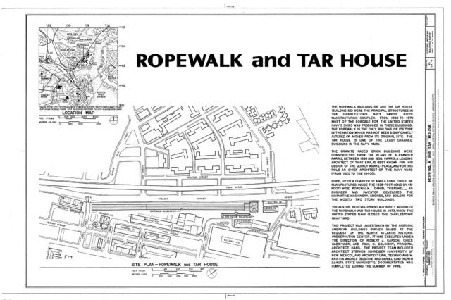 Charlestown Navy Yard, Ropewalk & Tar House, Boston, Suffolk County, MA