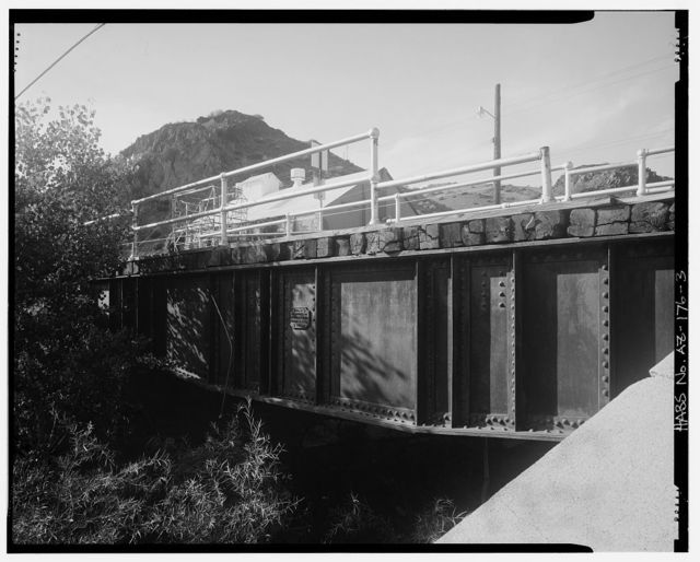 Chase Creek Railroad Bridge, East of Frisco Street at Chase Creek, Clifton, Greenlee County, AZ