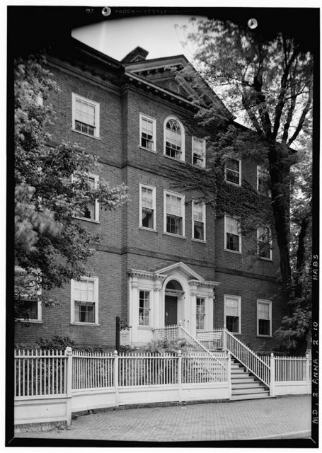 Chase-Lloyd House, 22 Maryland Avenue & King George Street, Annapolis, Anne Arundel County, MD