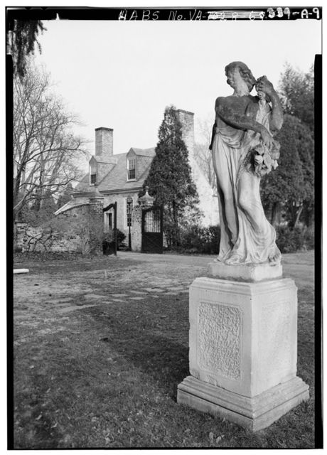 Chatham, Garden Statuary & Grounds, .2 mile northeast of intersection of State Routes 218 & 3, Falmouth, Stafford County, VA