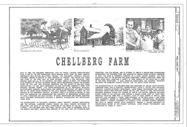 Chellberg Farm, 900 North Mineral Springs Road, Porter, Porter County, IN