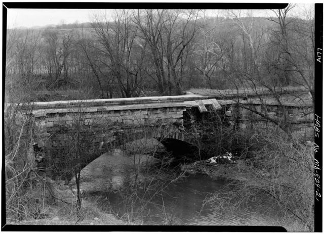 Chesapeake & Ohio Canal, Evitts Creek Aqueduct, 180.7 miles above tidewater, Cumberland, Allegany County, MD