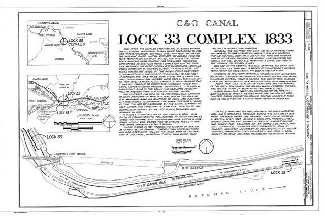 Chesapeake & Ohio Canal, Lock 33 Complex, Mile 60.7, Sharpsburg, Washington County, MD