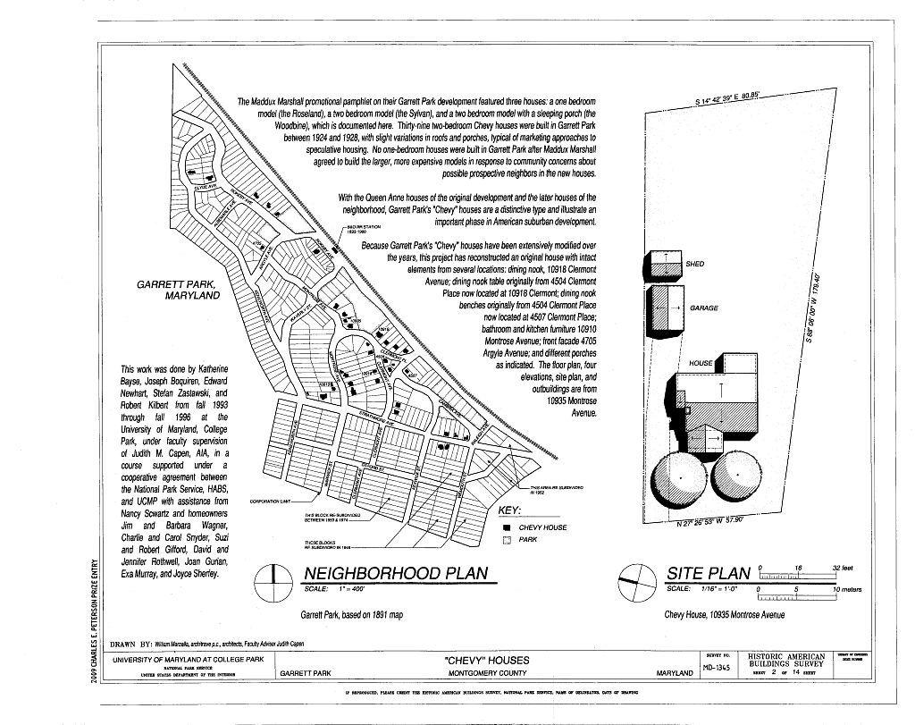 Chevy Houses, 10910 Montrose Avenue, 10935 Montrose Avenue, & 10918 Clermont Avenue, Garrett Park, Montgomery County, MD