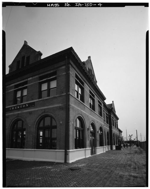 Chicago, Burlington & Quincy Railroad, West Iowa Division, Creston Station, 116 West Adams, Creston, Union County, IA