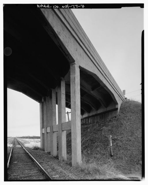 Chicago, Milwaukee, St. Paul & Pacific Railroad, Overhead Highway Bridge, Spanning Twin City & Western Railroad on Trunk Highway 71, Olivia, Renville County, MN