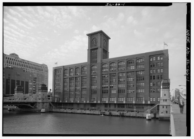 Chicago River Bascule Bridge, LaSalle Street, Spanning Chicago River at North LaSalle Street, Chicago, Cook County, IL