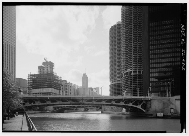 Chicago River Bascule Bridge, Wabash Avenue, Spanning Chicago River at North Wabash Avenue, Chicago, Cook County, IL