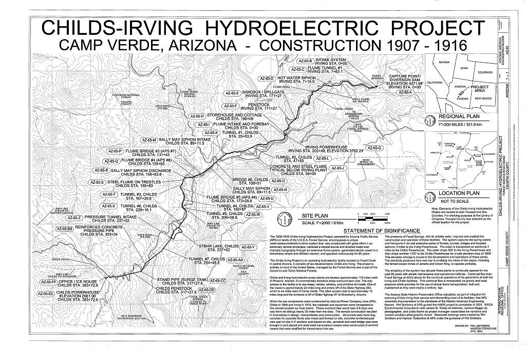 Childs-Irving Hydroelectric Project, Forest Service Road 708/502, Camp Verde, Yavapai County, AZ