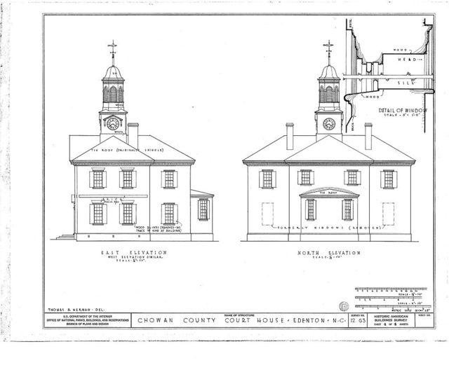 Chowan County Courthouse, East King Street, Edenton, Chowan County, NC