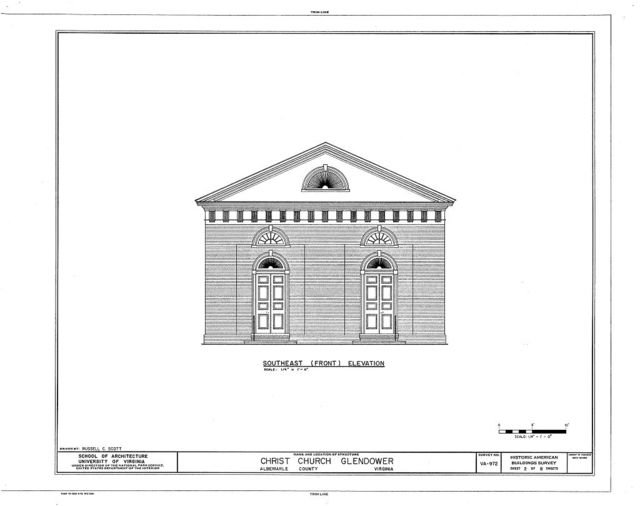 Christ Church (Episcopal), State Routes 713 & 712, Glendower, Albemarle County, VA