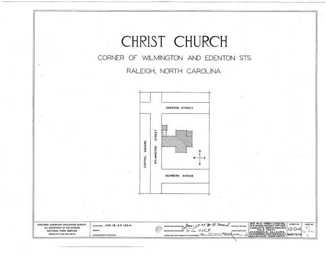 Christ Episcopal Church, 120 East Edenton Street, Raleigh, Wake County, NC