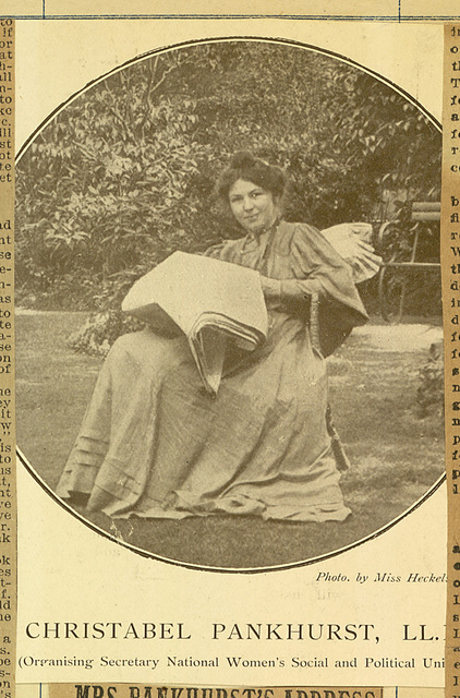 Christabel Pankhurst, photomechanical print