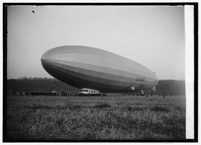 """Christening of """"Los Angeles"""" at Bowling Field [i.e., Bolling Field, Washington, D.C], 11/25/24"""