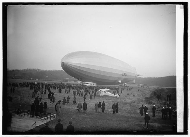 "Christening of ""Los Angeles"" at Bowling Field [i.e., Bolling Field, Washington, D.C], 11/25/24"