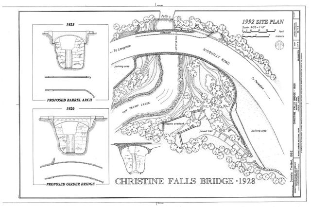 Christine Falls Bridge, Spanning Van Trump Creek on Nisqually Road, Longmire, Pierce County, WA