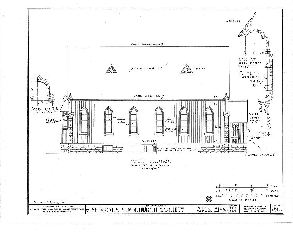 Church of Minneapolis, 905 Fifth Avenue, Minneapolis, Hennepin County, MN
