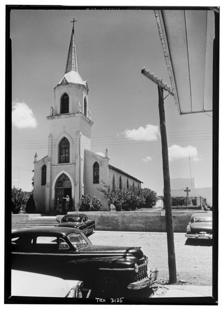 Church of our Lady of Refuge of Sinners, North end of Main Plaza on Estrella Street, Roma Creek, Starr County, TX