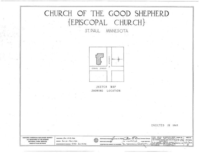 Church of the Good Shepherd, Twelfth & Cedar Streets, Saint Paul, Ramsey County, MN