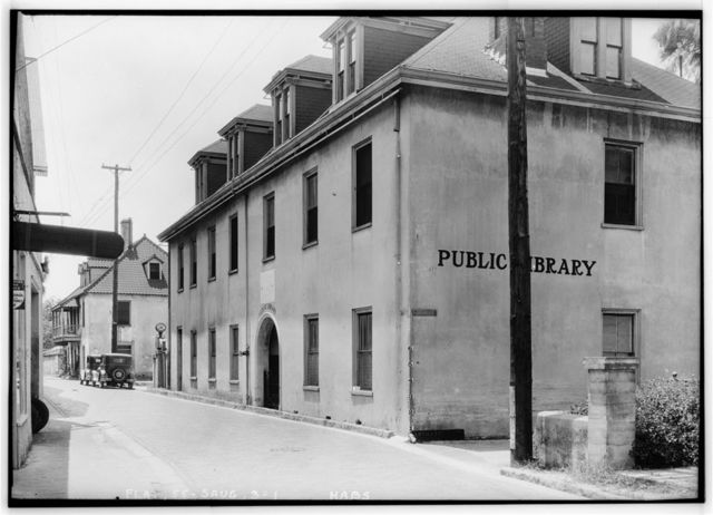 City Library, Aviles Street & Artillery Lane, Saint Augustine, St. Johns County, FL