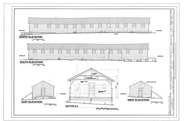 Civilian Conservation Corps (CCC) Camp NP-5-C, Barracks No. 5, CCC Camp Historic District at Chapin Mesa, Cortez, Montezuma County, CO