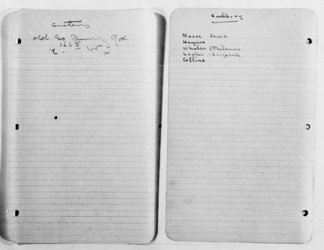 Clara Barton Papers: Family Papers: Genealogy; Barton-Porter families, undated