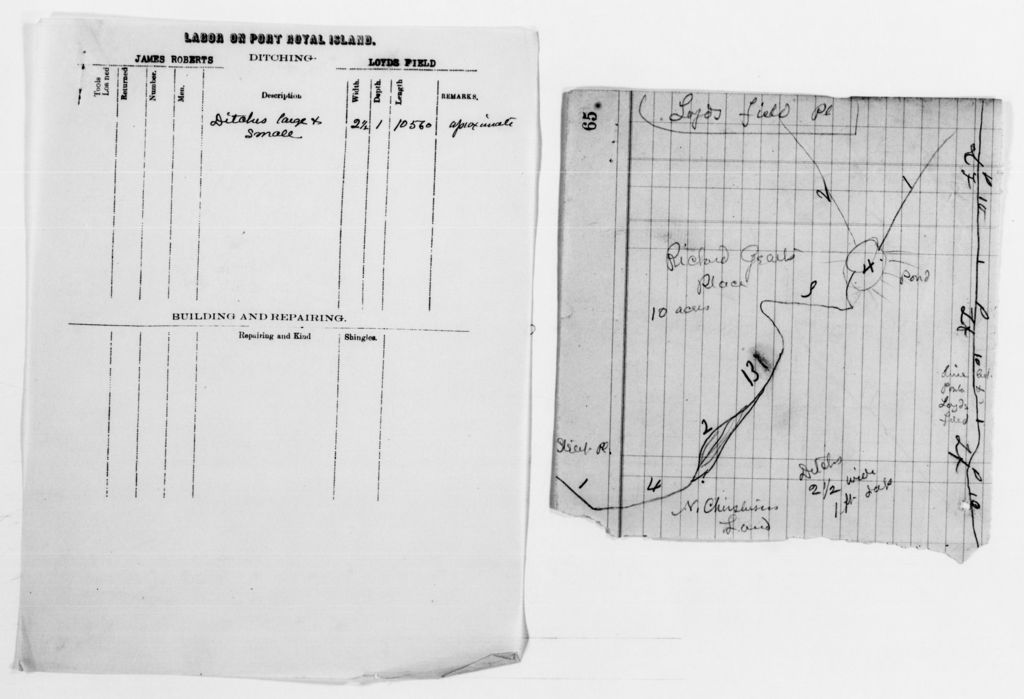 Clara Barton Papers: Red Cross File, 1863-1957; American National Red Cross, 1878-1957; Relief operations; Sea Islands, S.C.; Reports; Labor reports; A-Y