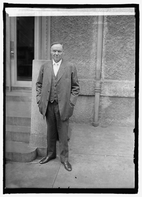 Clarence Darrow at Cosmos Club, [Washington, D.C.], 3/14/25
