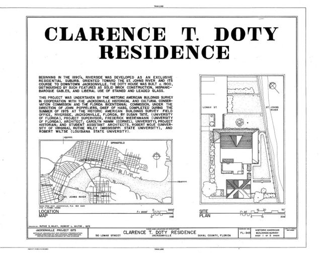 Clarence T. Doty Residence, 510 Lomax Street, Jacksonville, Duval County, FL