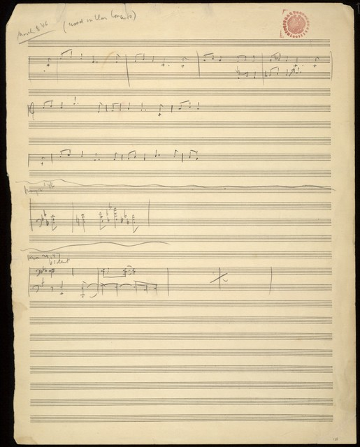 Clarinet concerto [sketches]