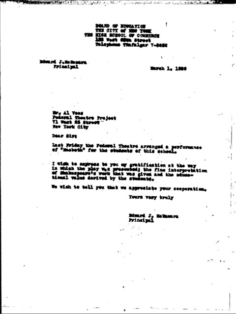 Classical Unit - 1938-1939 - WPA FTP - Fagon, Add