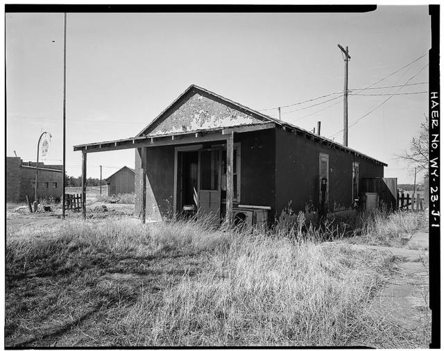 Clay Spur Bentonite Plant & Camp, Office, Clay Spur Siding on Burlington Northern Railroad, Osage, Weston County, WY